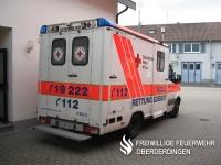 Rettungswagen Rotkreuz Karlsruhe 4/83-4 der Wache Oberderdingen.