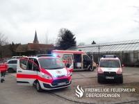 Die drei Einsatzfahrzeug des Ortsvereins Oberderdingen.