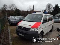 Mannschaftstransportwagen (MTW, Rotkreuz Karlsruhe 54/45-3) des Ortsvereins Flehingen.