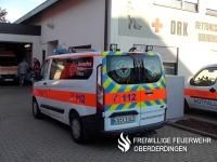 Der Mannschaftstransportwagen (MTW) des DRK-Ortsvereins Oberderdingen.