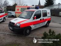 Das Mehrzweckfahrzeug (MZF) bzw. Schnelleinsatzgruppenfahrzeug (SEGF) des DRK-Ortsvereins Oberderdingen auf Fiat Doblo (Funkrufname: Rotkreuz Karlsruhe 54/41-2).