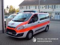 Der Mannschaftstransportwagen (MTW) des DRK-Ortsvereins Oberderdingen auf Ford Transit Custom (Funkrufname: Rotkreuz Karlsruhe 54/19-6).