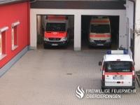 Fahrzeughalle des DRK-Hauses Oberderdingen.